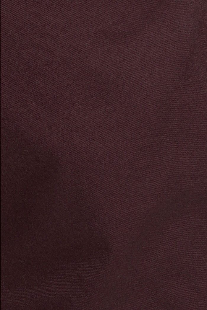 Chino aus Organic Cotton, BORDEAUX RED, detail image number 4