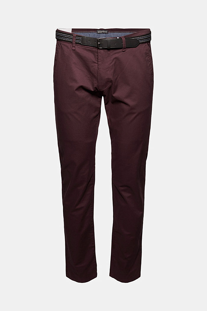 Chino aus Organic Cotton, BORDEAUX RED, detail image number 5