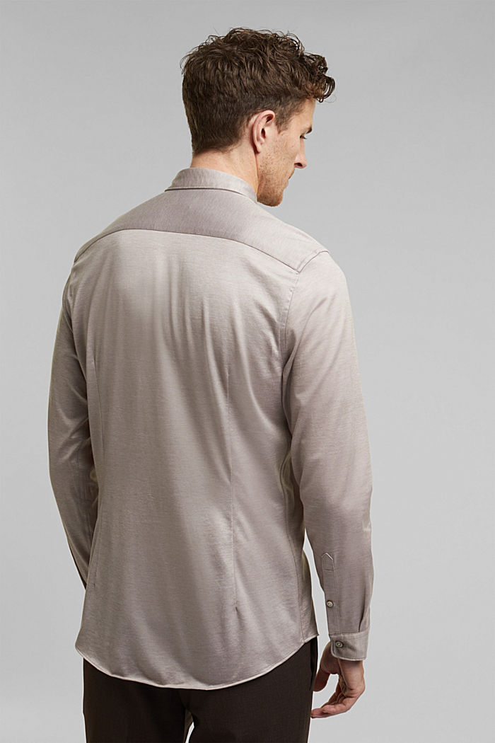 Jersey shirt made of 100% organic cotton, TAUPE, detail image number 3