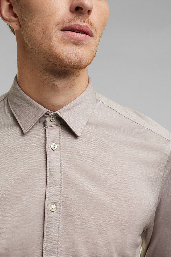 Jersey shirt made of 100% organic cotton, TAUPE, detail image number 2
