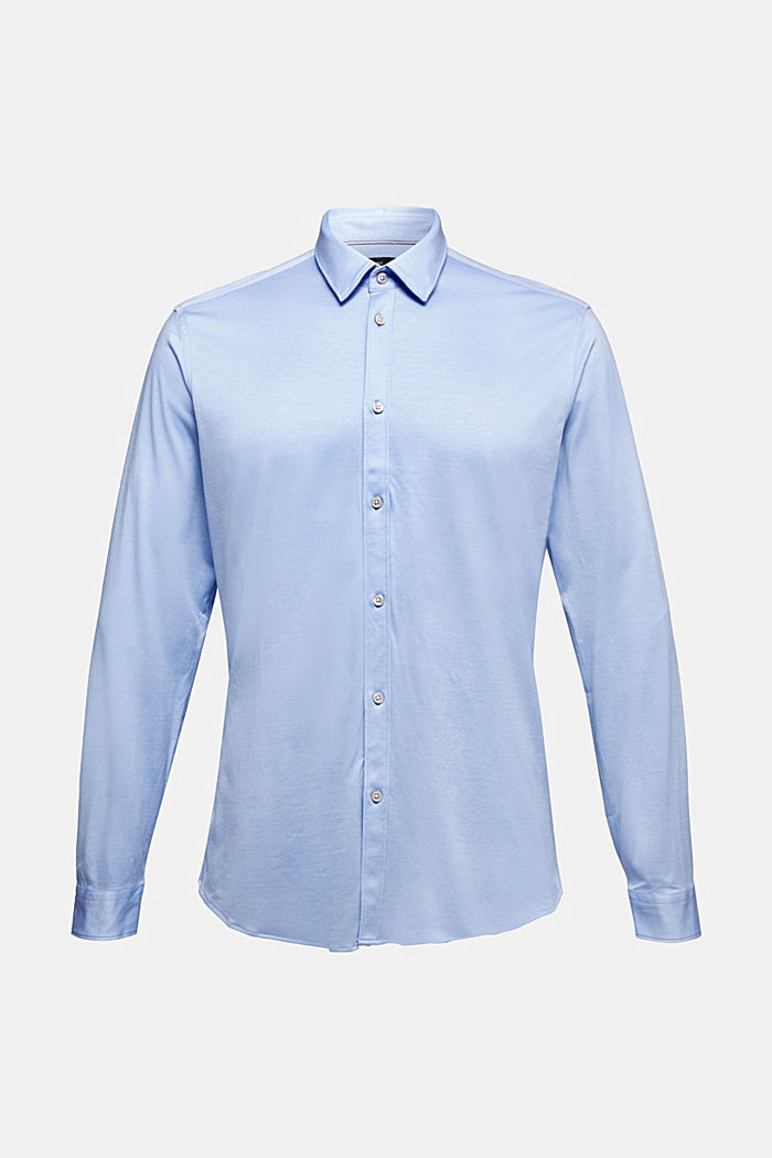 Jersey-Hemd aus 100% Organic Cotton, LIGHT BLUE, detail image number 6