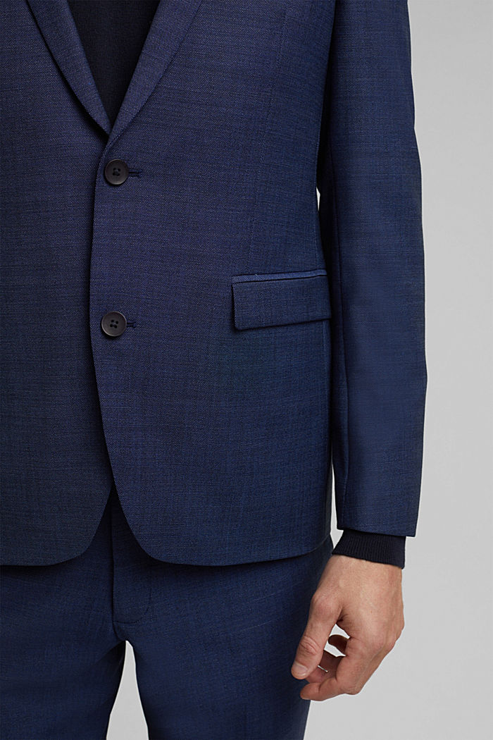 ACTIVE SUIT Americana Mix+Match con diseño bicolor, BLUE, detail image number 2