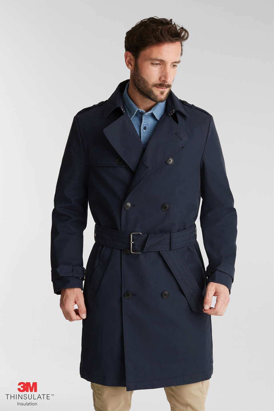 Esprit - Trenchcoat med 3M™ Thinsulate™-fyld
