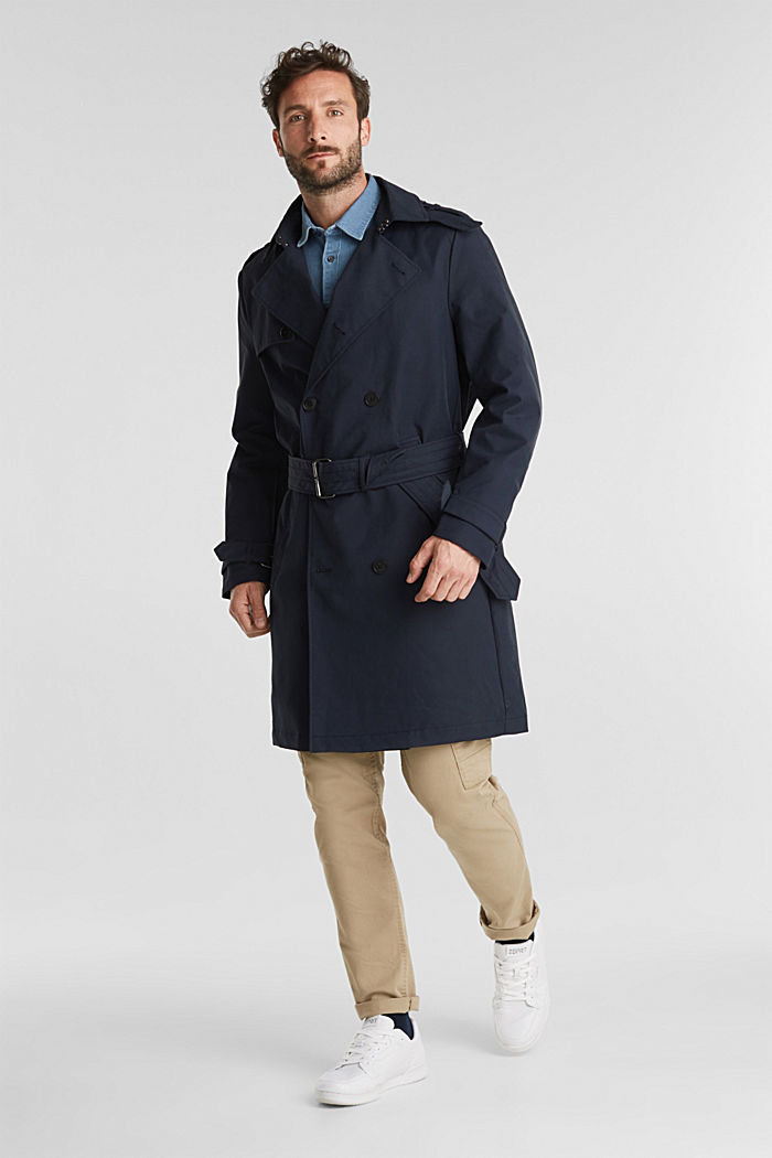 Trenchcoat met 3M™ Thinsulate™-vulling, NAVY, detail image number 1