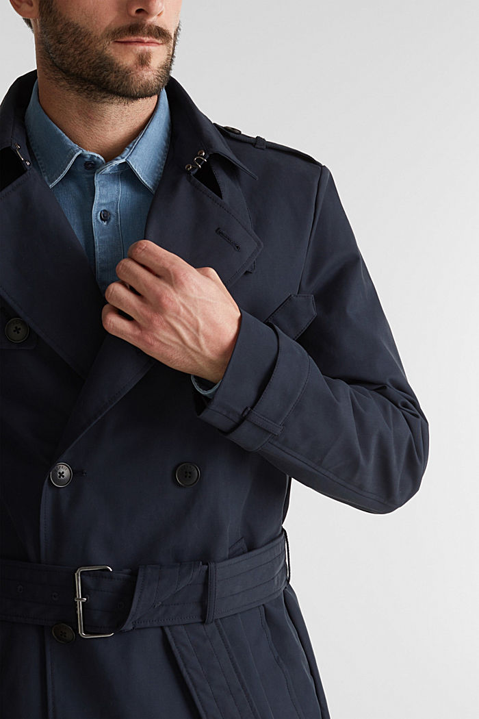 Trenchcoat met 3M™ Thinsulate™-vulling, NAVY, detail image number 2