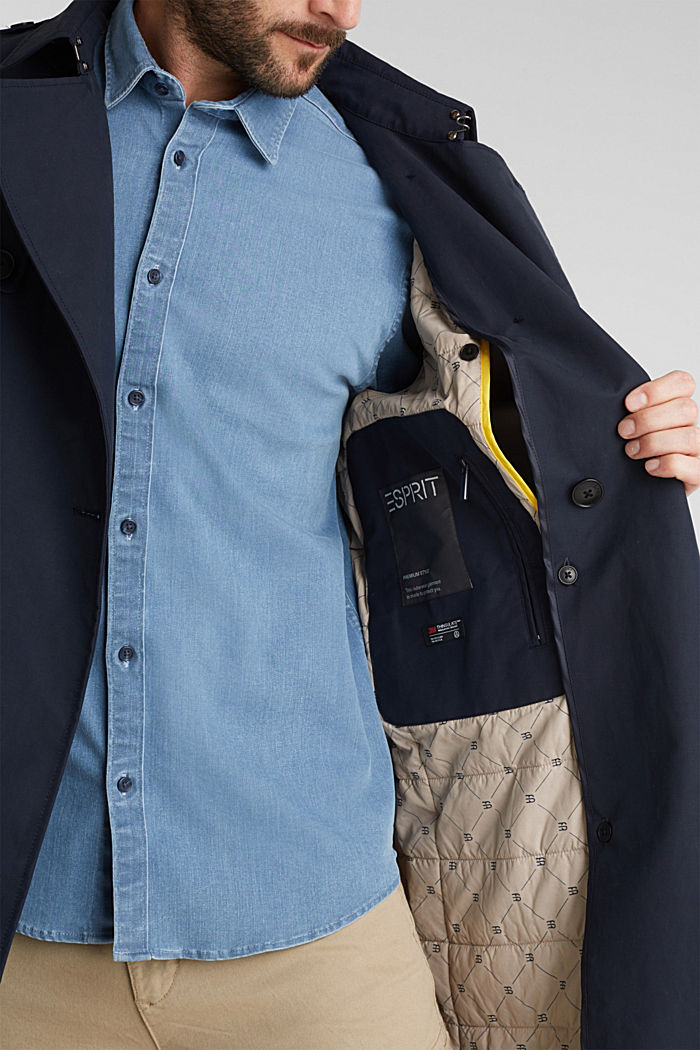 Trenchcoat met 3M™ Thinsulate™-vulling, NAVY, detail image number 5