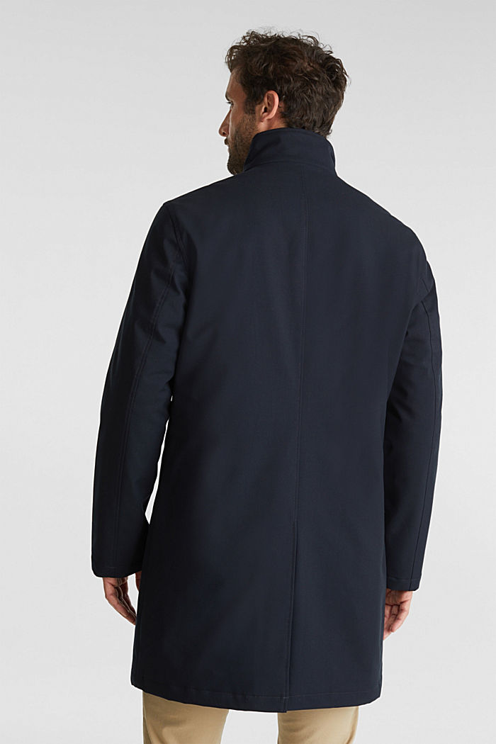 Recycled: coat with wool padding, DARK BLUE, detail image number 3