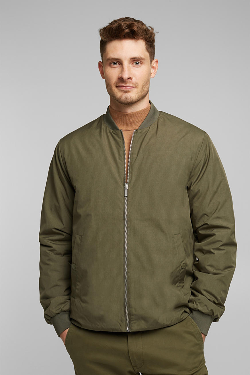 Padded bomber jacket made of nylon