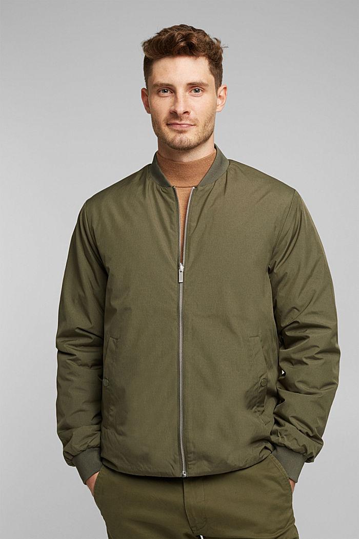 2-in-1 edition: padded nylon bomber jacket, DARK KHAKI, detail image number 0