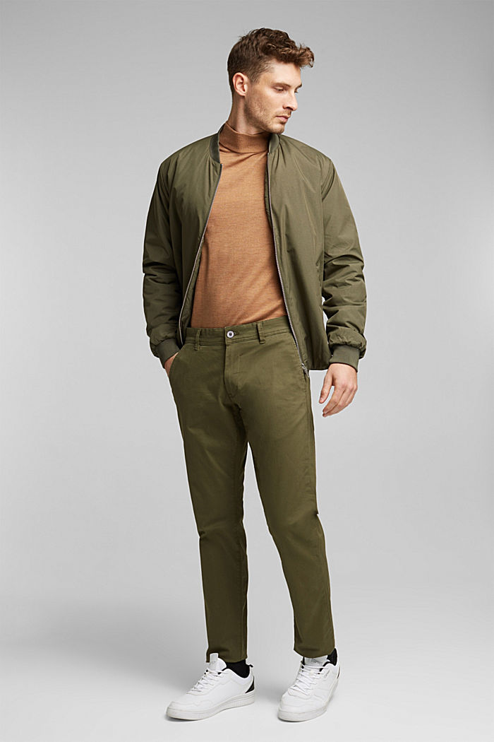 2-in-1 edition: padded nylon bomber jacket, DARK KHAKI, detail image number 1