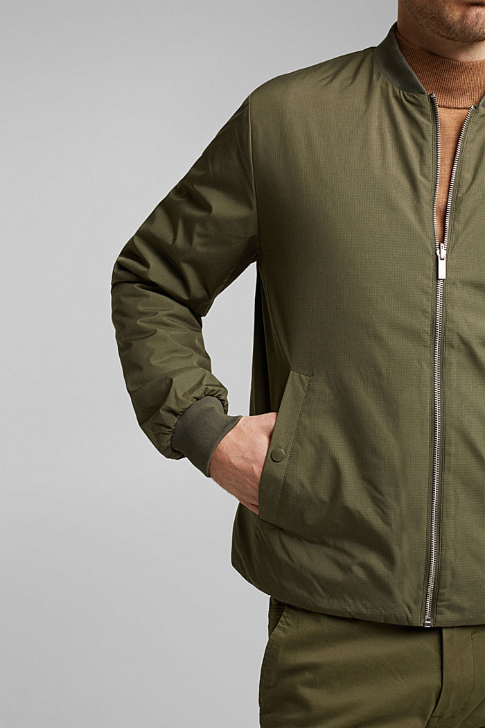 2-in-1 edition: padded nylon bomber jacket, DARK KHAKI, detail image number 5
