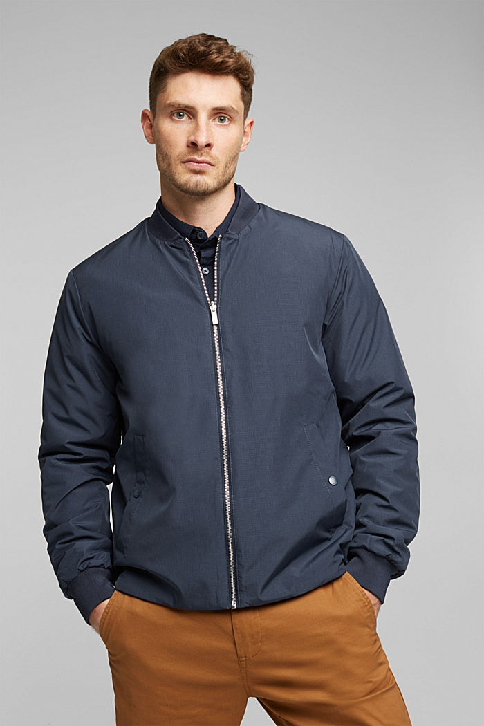 2-in-1 edition: padded nylon bomber jacket, NAVY, detail image number 0