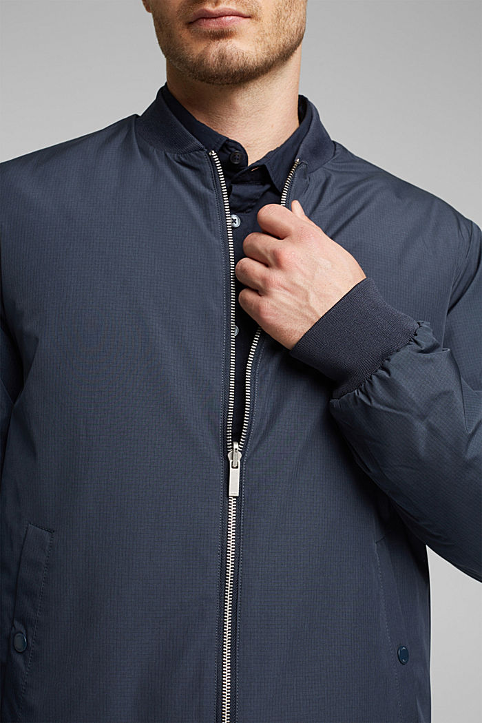 2-in-1 edition: padded nylon bomber jacket, NAVY, detail image number 2