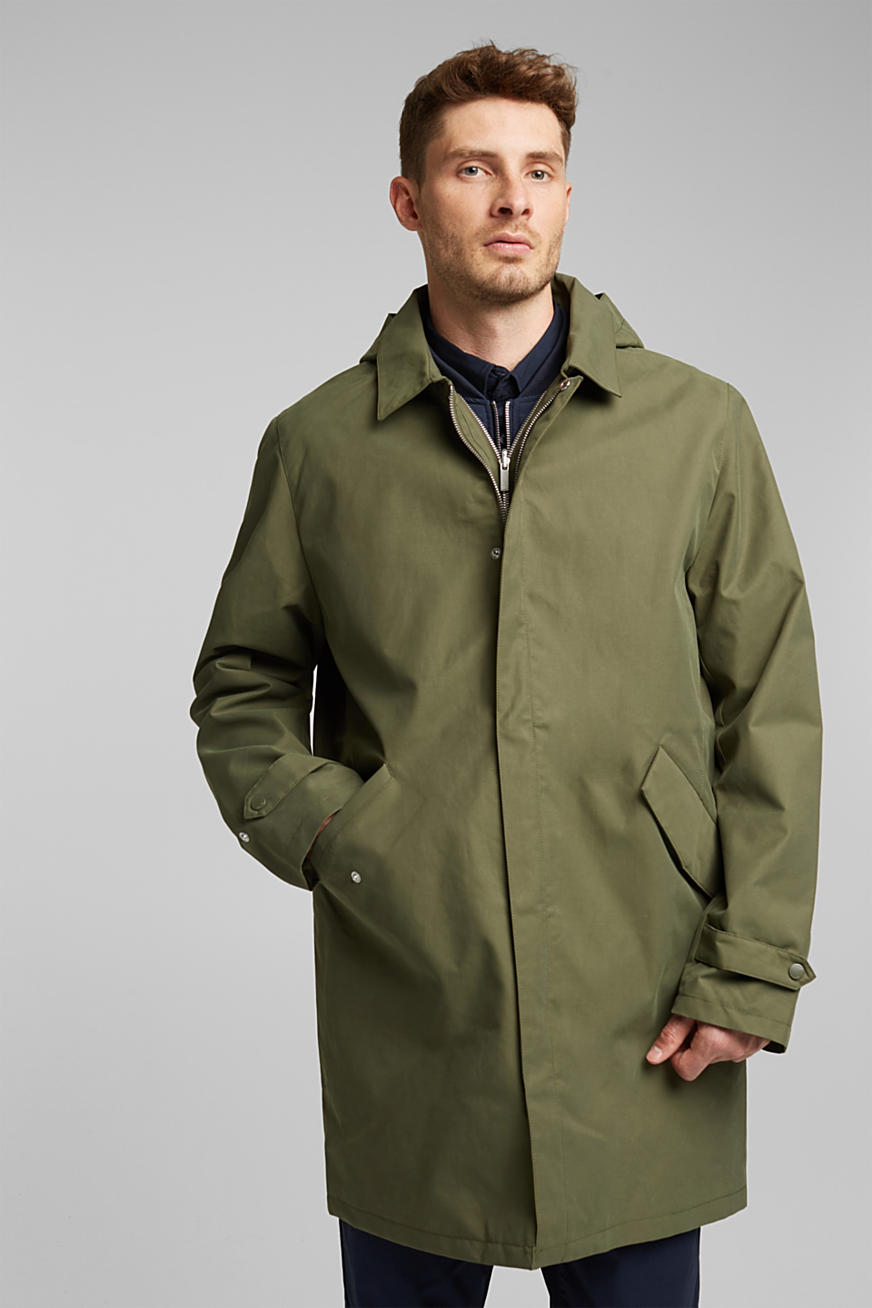 Outdoor coat with organic cotton