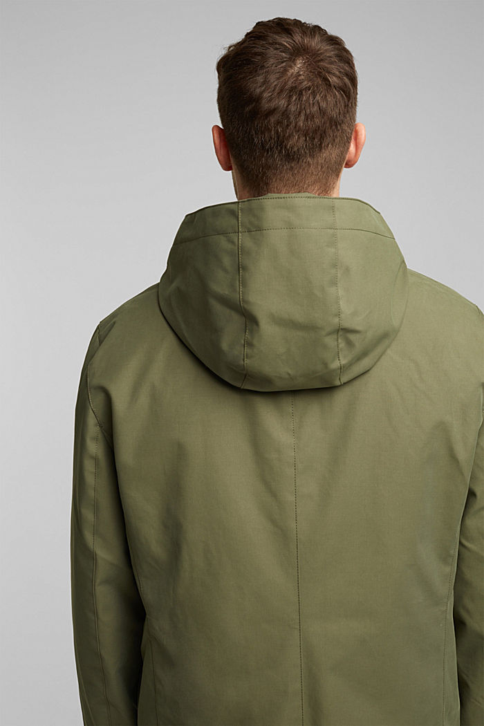 2-in-1 edition: coat with organic cotton, DARK KHAKI, detail image number 5