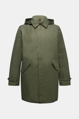2-in-1 edition: coat with organic cotton, DARK KHAKI, detail