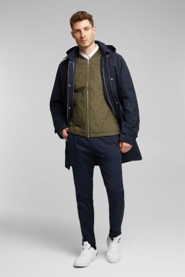 2-in-1 edition: coat with organic cotton, NAVY, detail