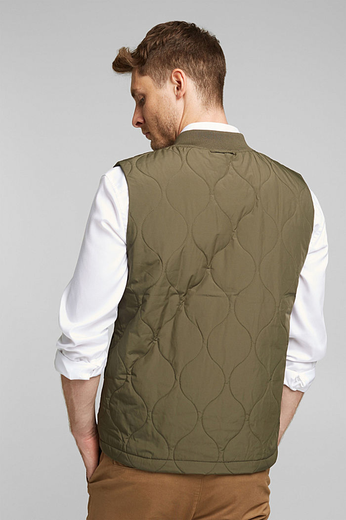 2-in-1 edition: body warmer, recycled, DARK KHAKI, detail image number 3