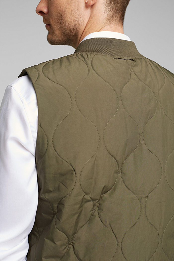 2-in-1 edition: body warmer, recycled, DARK KHAKI, detail image number 6