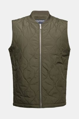 2-in-1 edition: body warmer, recycled, DARK KHAKI, detail