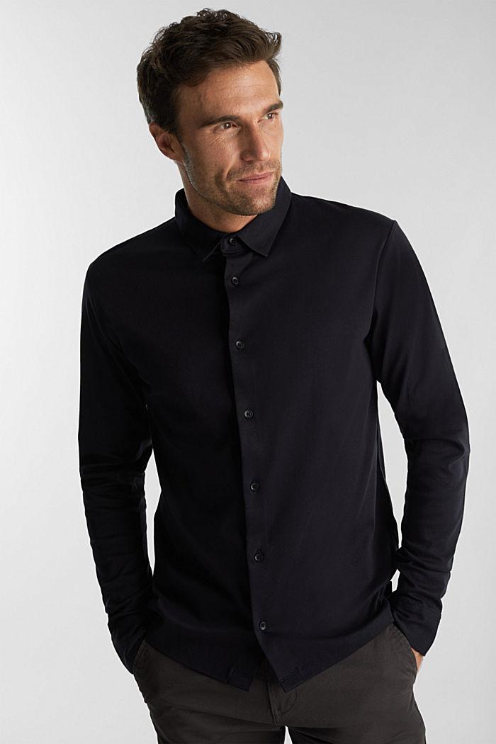 Jersey shirt made of 100% organic cotton, BLACK, detail image number 0