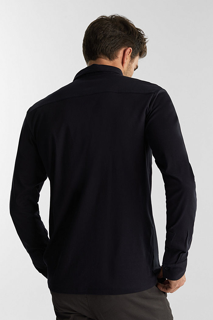 Jersey shirt made of 100% organic cotton, BLACK, detail image number 3