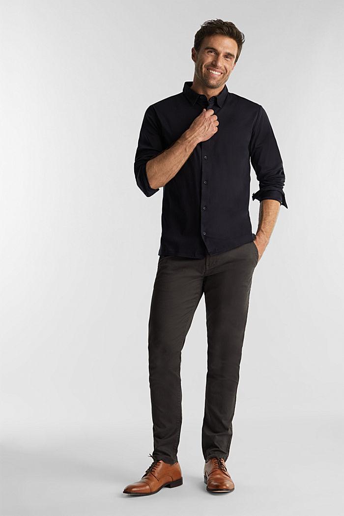 Jersey shirt made of 100% organic cotton, BLACK, detail image number 2