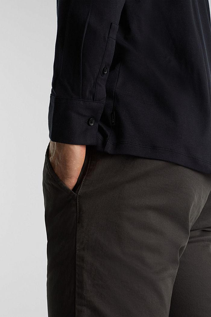 Jersey shirt made of 100% organic cotton, BLACK, detail image number 1