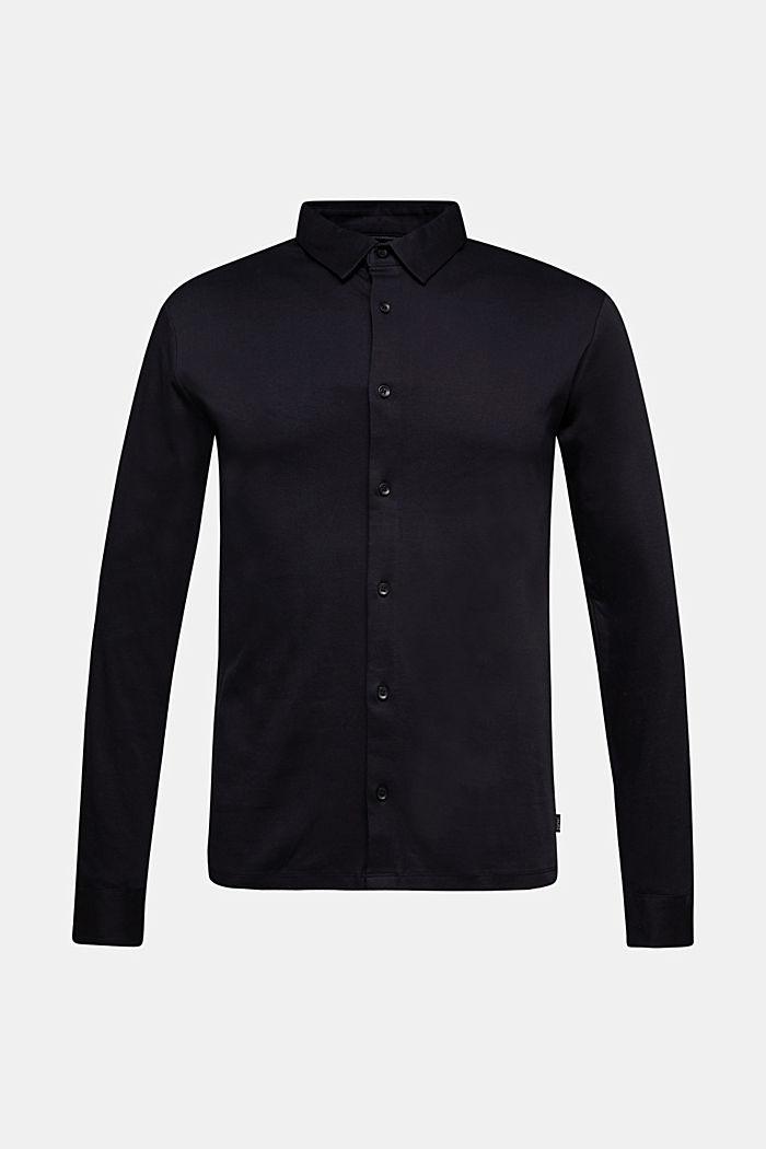 Jersey shirt made of 100% organic cotton, BLACK, detail image number 5