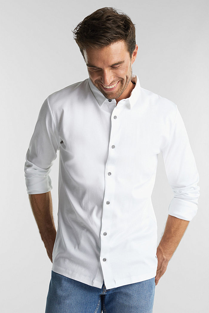 Jersey shirt made of 100% organic cotton, WHITE, detail image number 0