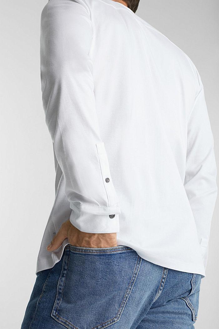 Jersey-Hemd aus 100% Organic Cotton, WHITE, detail image number 1
