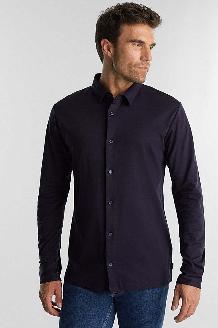 Jersey shirt made of 100% organic cotton, NAVY, detail image number 0