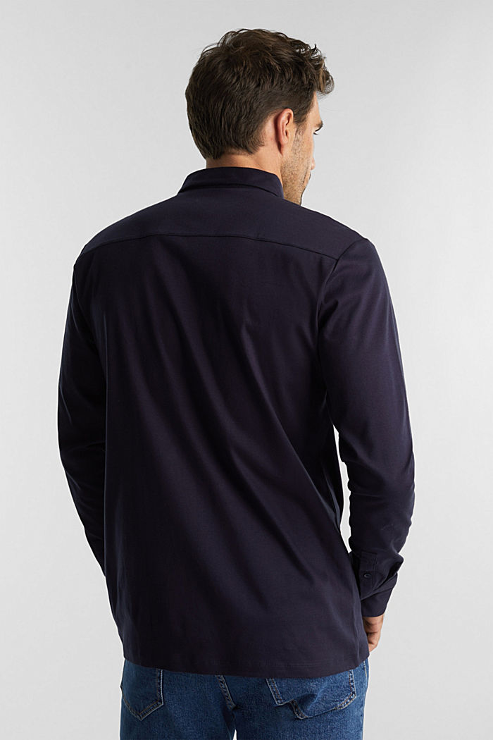 Jersey shirt made of 100% organic cotton, NAVY, detail image number 3