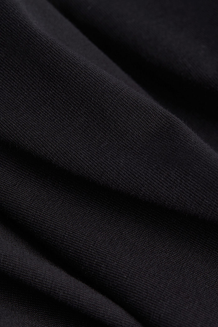 Jersey top with a polo neck and COOLMAX®, BLACK, detail image number 4