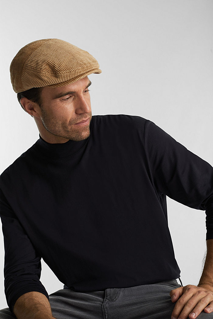 Jersey top with a polo neck and COOLMAX®, BLACK, overview