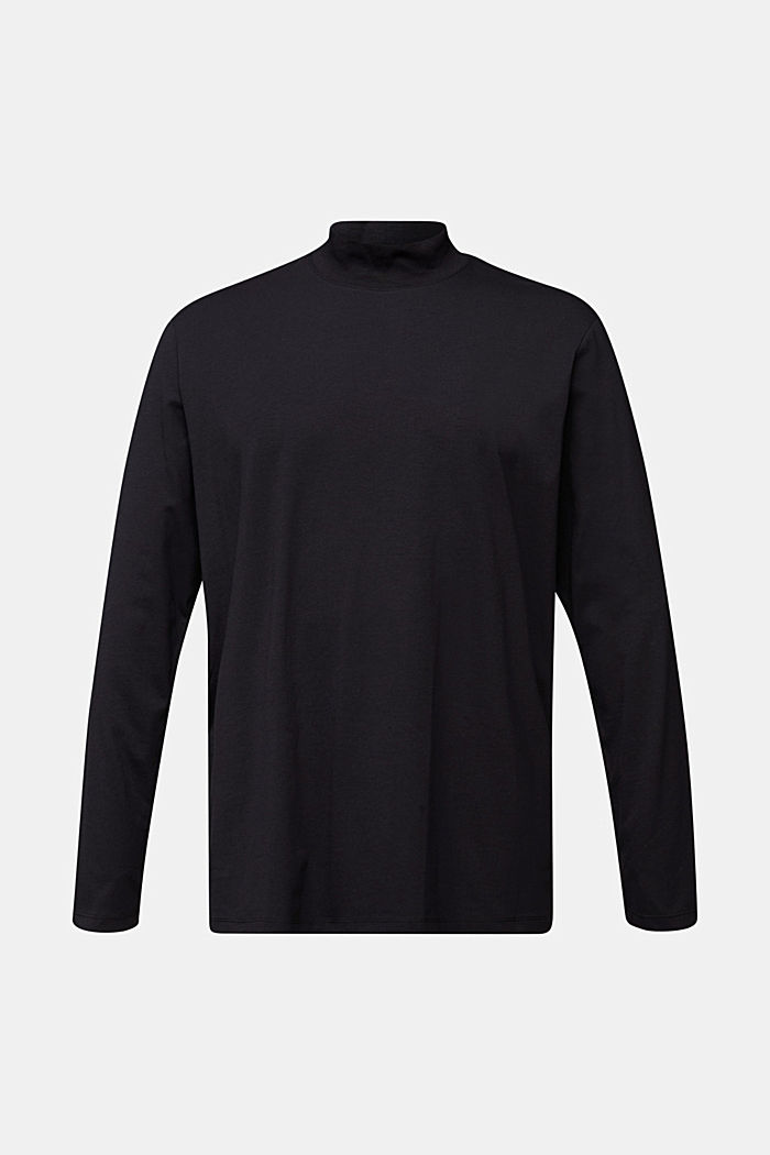 Jersey top with a polo neck and COOLMAX®, BLACK, detail image number 6