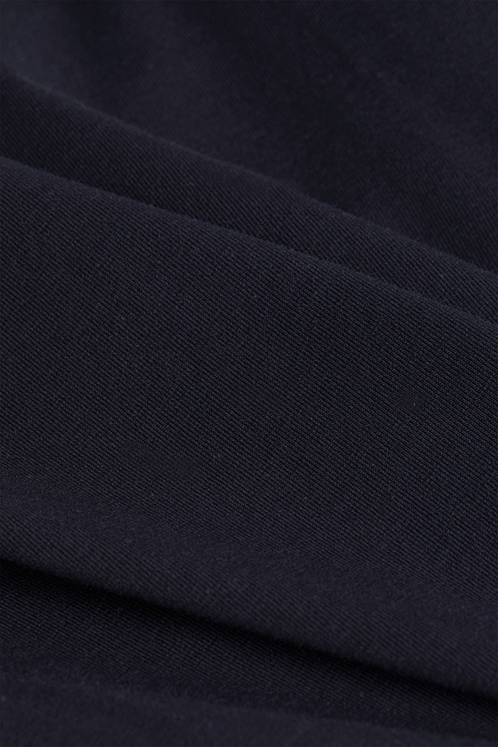 Jersey top with a polo neck and COOLMAX®, NAVY, detail image number 4