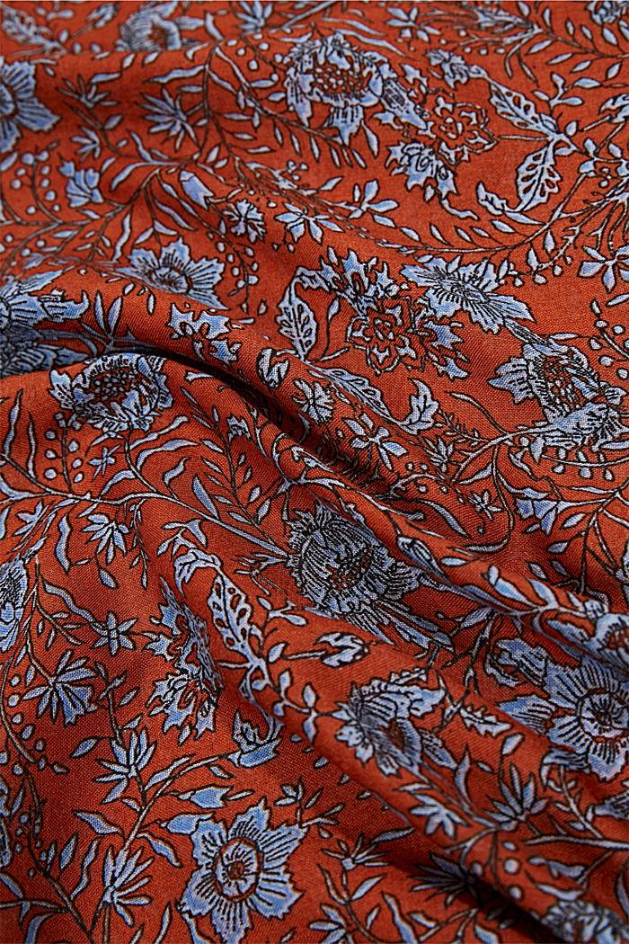 En matière recyclée: foulard tube à motif, RUST ORANGE, detail image number 2