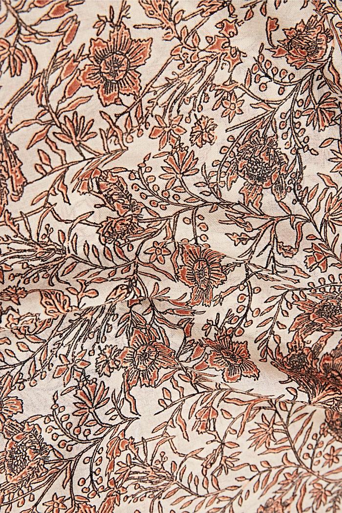 Gerecycled: colsjaal met motief, ORANGE, detail image number 2