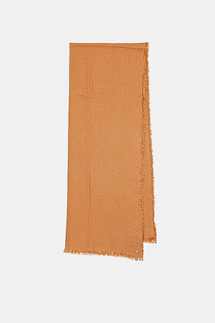 Struktur-Schal aus 100% Organic Cotton, BARK, detail image number 4