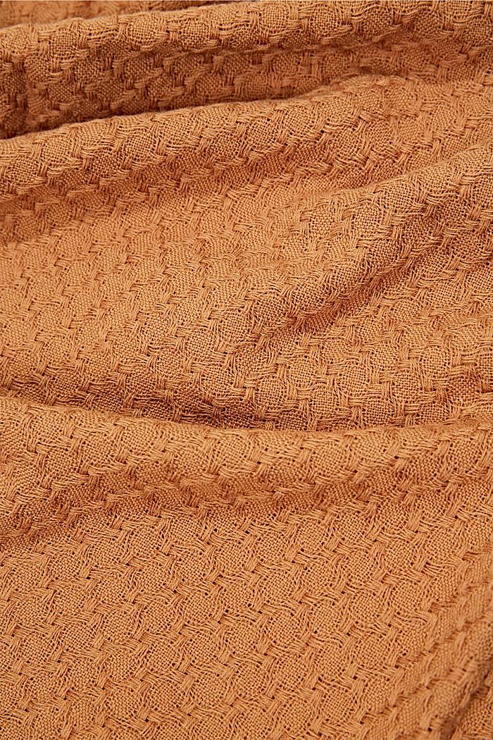 Struktur-Schal aus 100% Organic Cotton, BARK, detail image number 2