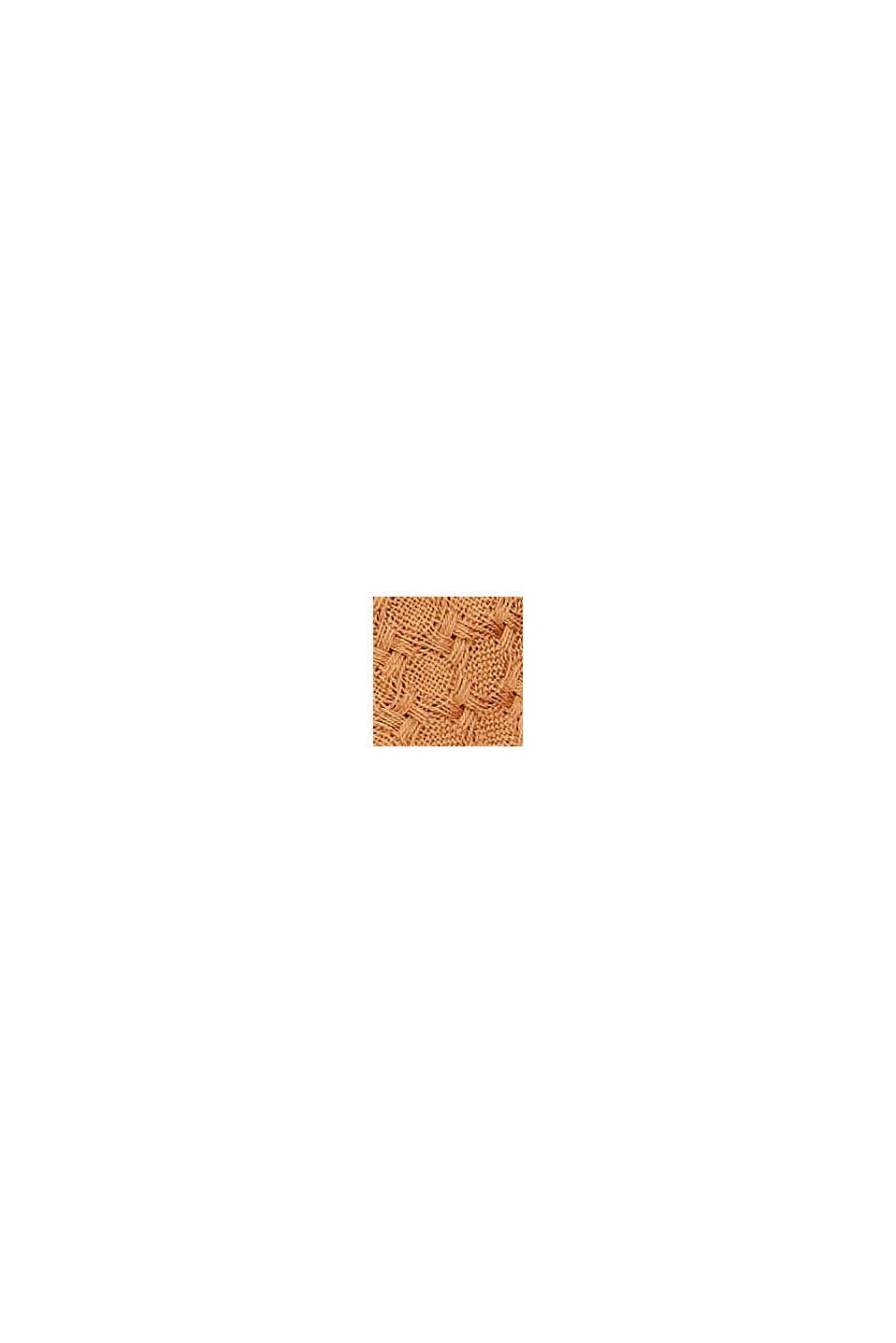 Kohokuvioitu huivi 100 % luomupuuvillaa, BARK, swatch