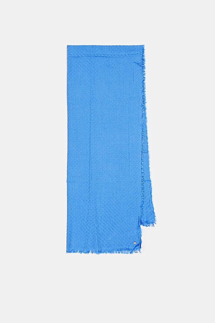 Struktur-Schal aus 100% Organic Cotton, BRIGHT BLUE, detail image number 4