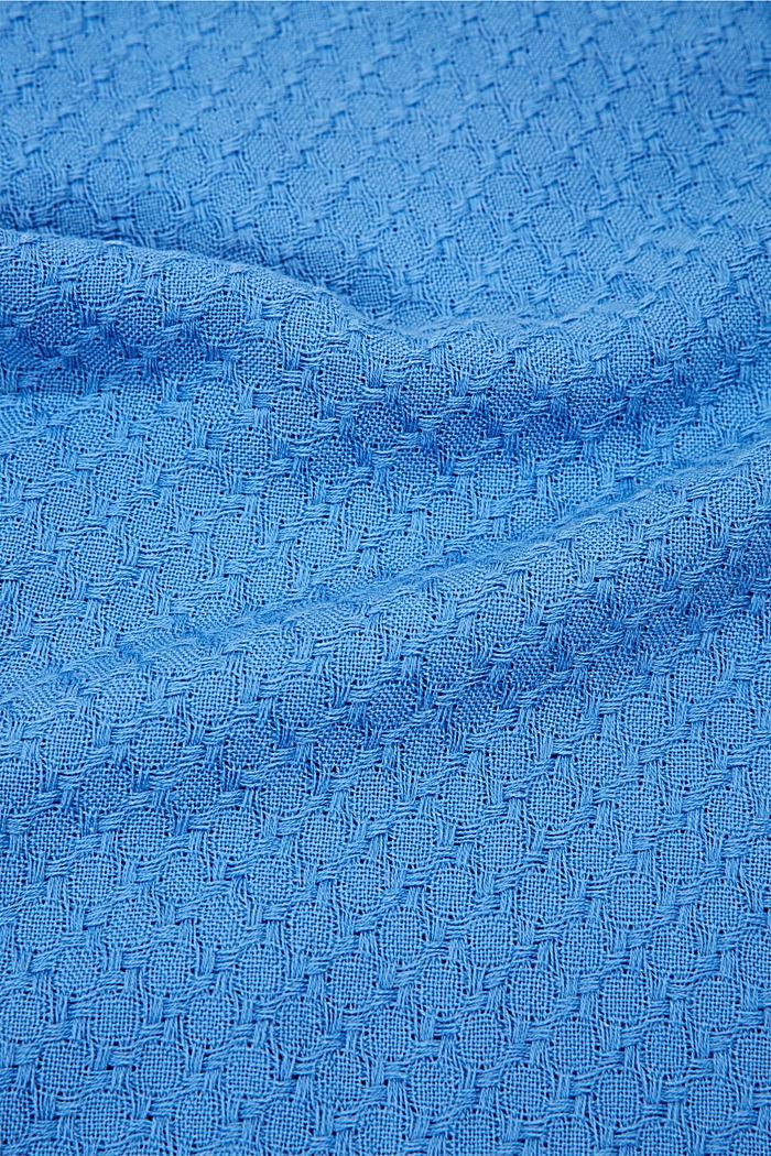 Struktur-Schal aus 100% Organic Cotton, BRIGHT BLUE, detail image number 2