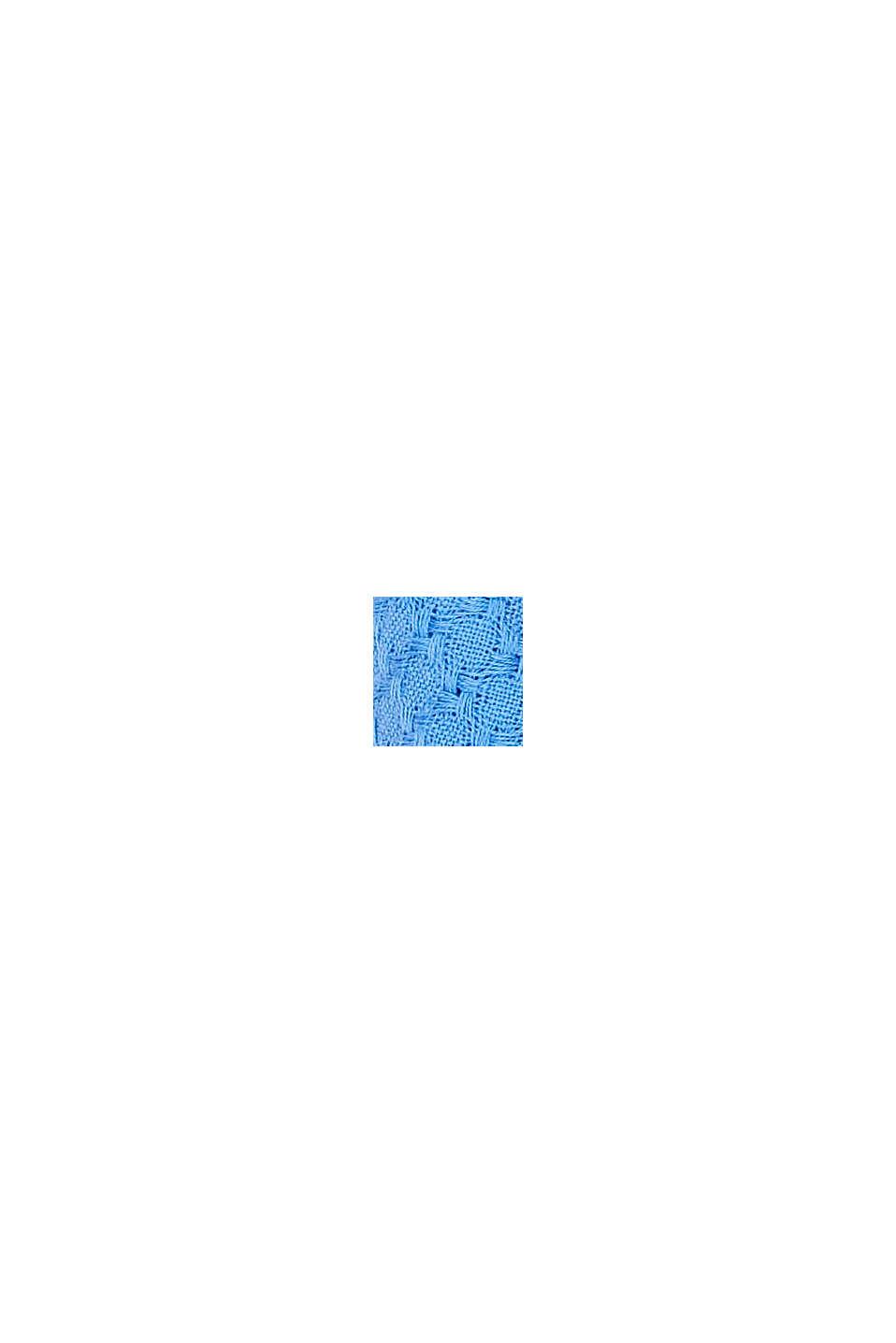 Kohokuvioitu huivi 100 % luomupuuvillaa, BRIGHT BLUE, swatch
