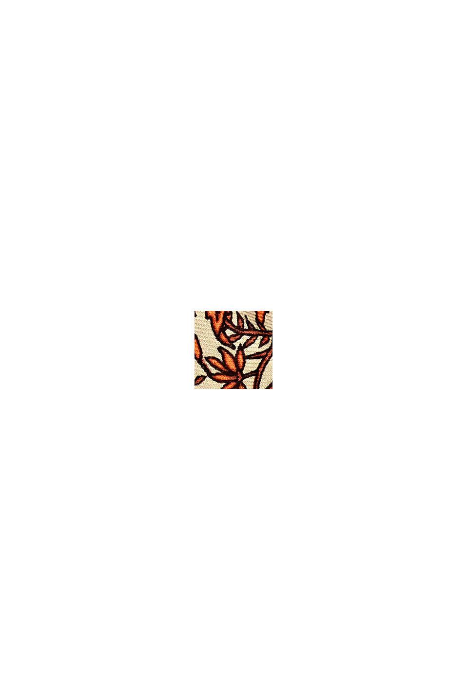 Foulard à imprimé à fleurs, LENZING™ ECOVERO™, ORANGE, swatch