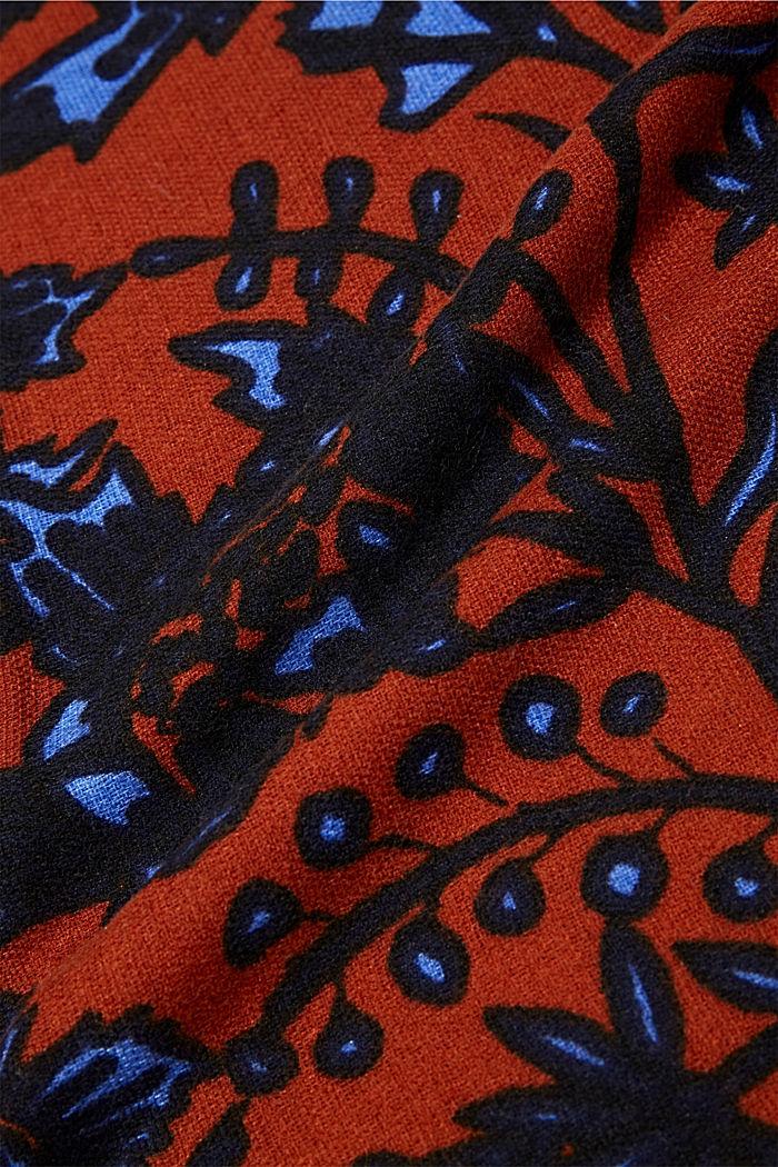 Reciclado: fular de tela con diseño floral, RUST ORANGE, detail image number 2