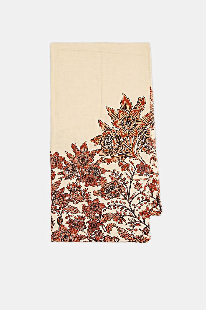 Recycelt: Webschal mit Blumenmuster, ORANGE, detail image number 3