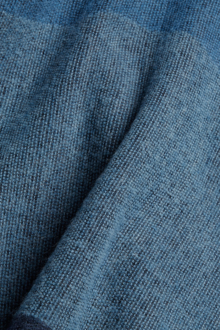 Recycelt: Poncho im Patchwork-Look, NAVY, detail image number 2