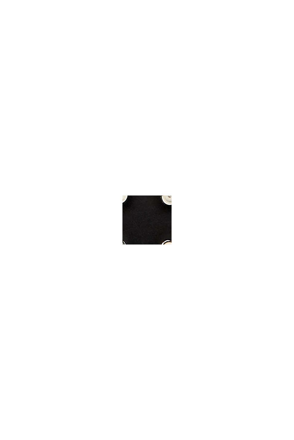 En cuir: la ceinture fine à rivets, BLACK, swatch
